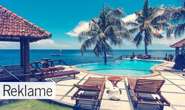 pool og strand udsigt